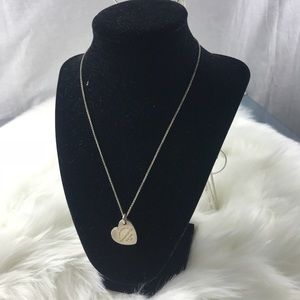 TIFFANY & Co 925 SILVER DOUBLE HEART NECKLACE